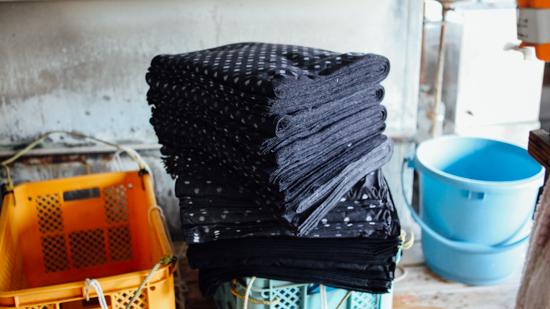 久保かすり織物|湯通し