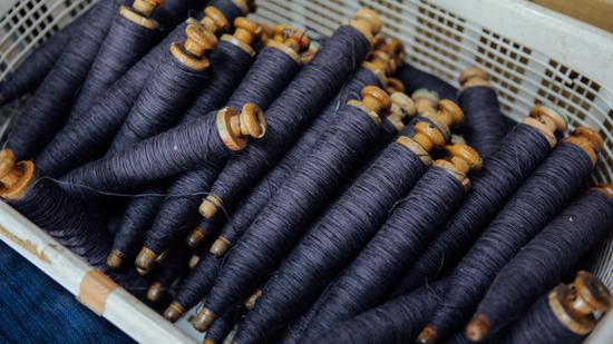 久保かすり織物|管巻き