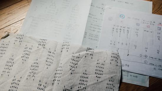 久保かすり織物|図案の作成